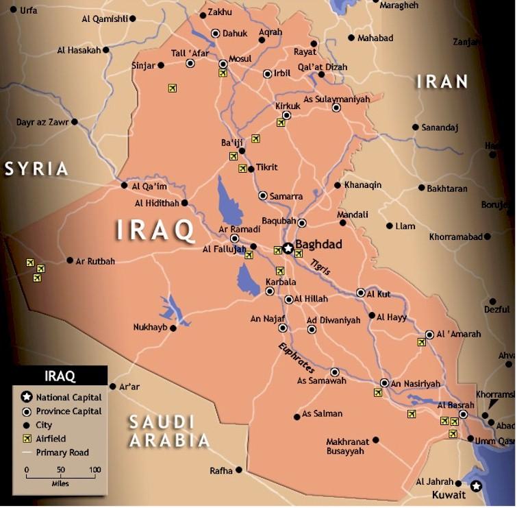 Hammorabi - Map showing us and iraq